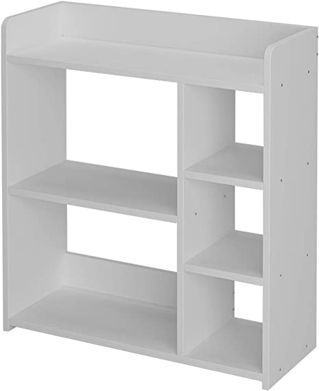 Wooden Bookcase Display Shelf 5 Storage Cubes 3 Tire Shelving Storage Cabinet Diy Closet Organizers For Living Room Bedroom Office White Amazon Ca Home Kitchen