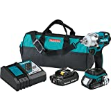Makita XWT11Z 18V LXT Lithium-Ion Brushless Cordless 3-Speed 1/2' Impact Wrench, Tool Only,
