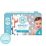 The Honest Company Super Club Box Diapers with TrueAbsorb Technology, Pandas & Safari, Size 4, 120 Count