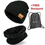 Bluetooth Beanie - Bluetooth 5.0 Hat - Wireless Headphones Hat and Scarf Set for Winter Outdoor Men...