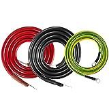 Potek 1500 Watt/3000 Watt/5000 Watt 5 AWG 3.28 Feet Heavy-Duty AC Power Inverter Battery Cable Kit