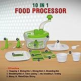 KARTAVYA 10 in 1 Piece Dough Maker, Vegetable Cutter, Slicer, Dicer, Atta Kneader (Food Processer)