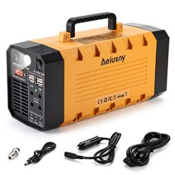 Camping with electricity options include a portable battery