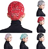 Product review for Qingfan Women Muslim Hijab Ruffle Cancer Chemo Elegant Lace Hat Beanie Scarf Turban Head Wrap Cap