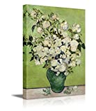 """Wall26 - Irises and Roses by Vincent Van Gogh - Oil Painting Reproduction on Canvas Prints Wall Art, Ready to Hang - 24"""" x 36"""""""