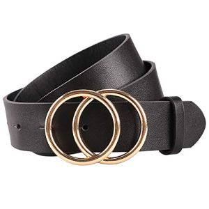 Earnda Women's Leather Belt Fashion Soft Faux Leather Waist Belts For Jeans Dress