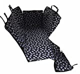 HelloTree Pet Dog Car Seat Cover - Double Oxford Pet Travel Hammock Waterproof Back Seat Protector Mat - Paw Prints