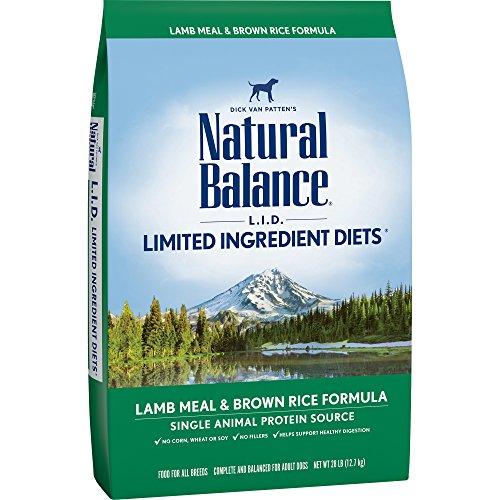 Natural Balance L.I.D. Limited Ingredient Diets Dry Dog Food, Lamb Meal & Brown Rice Formula, 28-Pound