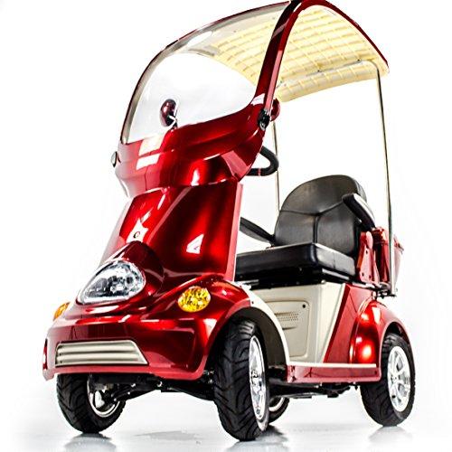 EWHEELS EW-54 4 Wheel Heavy Duty Electric Mobility Scooter Solid Canopy