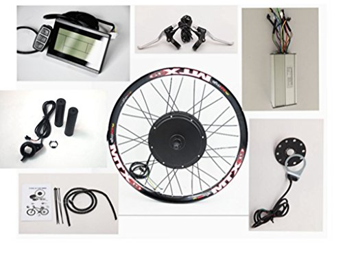 Front or Rear Motor 65km/h 48V 1500W Electric Bike Conversion Kit ,Sunringle MTX33 Bicycle 16''-28'' Double-wall Alloy Rims ,with LCD Display