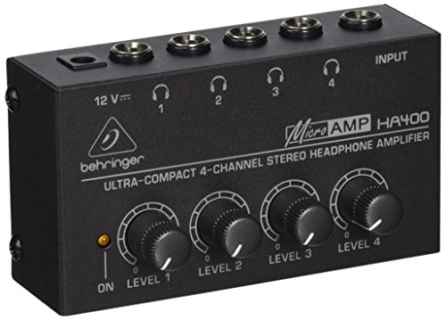 Behringer Microamp HA400 Ultra-Compact 4-Channel Stereo Headphone Amplifier