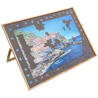 Lavievert Adjustable Wooden Puzzle Board Easel, Portable Tilting Puzzle Table with Non-Slip Flannelette Work Surface for…