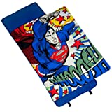 Superman Nap Mat, Wildkin Children's Original Nap Mat with Built in Blanket and Pillowcase, Pillow Insert Included, Premium Cotton and Microfiber Blend, Children Ages 3-7 years – Superman Whoosh