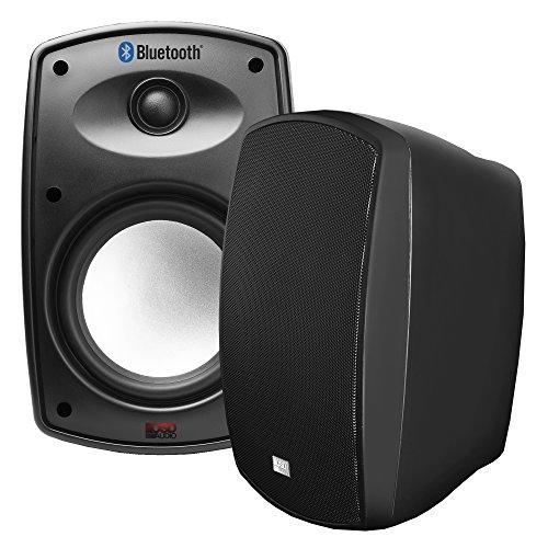 OSD Audio 6.5' Bluetooth Outdoor Patio Speaker -Wireless Stereo Pair, Black - BTP650