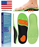 ENERFOOT Plantar Fasciitis Inserts Arch Support Shoe Sports Inserts Orthotic Inserts Shoe Insoles Women Men for Plantar Fasciitis High Arch Foot Pain Relieve