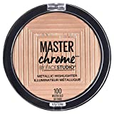 Maybelline Master Chrome Metallic Highlighter Powder, Molten Gold, 0.24 Ounce