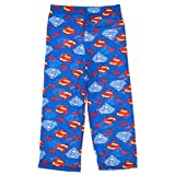 DC Comics Superman Blue and Red Logos Pajama Pants for Little Boys (6/8)