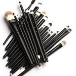 MELADY20pcs-Multi-function-Pro-Cosmetic-Powder-Foundation-Eyeshadow-Eyeliner-Lip-Makeup-Brushes-Sets-Black