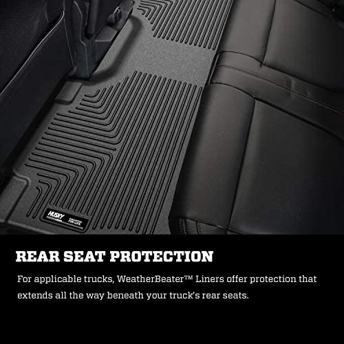 Husky Liners Fits 2015-20 Ford F-150 SuperCrew Weatherbeater Front & 2nd Seat Floor Mats 5