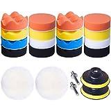 Advgears 22 Pcs 3 Inch Car Foam Drill Polishing Pad Kit Buffing Sponge Pads Kits For Car Buffer Polisher Sanding, Polishing, Waxing Sealing Glaze