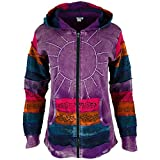 GreaterGood Sunshine Daydream Hooded Jacket (1X, Purple)