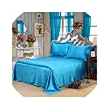 Bedspreads Household Bed Cover Pure Color Bed Flat Soft Skin Friendly Bed Sheet Double Bed Bedspread High Grade Home Decorations,16,Pillowcase X 2Pcs