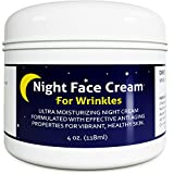 Anti Aging Night Cream Moisturizer for Dry Skin - Firming Cream For Women & Men - Best Anti Wrinkle Cream for Sensitive Skin - Collagen Booster - All Natural Skin Care with Antioxidants & Shea Butter