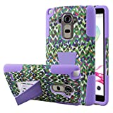 LG G Stylo Case - Purple Rainbow Leopard, MPERO IMPACT X Series Dual Layered Tough Durable Shock Absorbing Silicone Polycarbonate Hybrid Kickstand Case for G Stylo