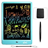 Dimi 10 inch LCD Writing Tablet,Colorful Screen Electronic Writing Board Doodle Pads Drawing Board Gifts for Kids + Erase Button Lock Included(Blue+Case+Stylus)