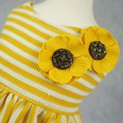 Fitwarm-Flowers-Pet-Clothes-for-Dog-Dresses-Vest-Shirts-Sundress-Mustard-Yellow