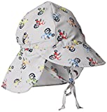 i play. Baby Boys' Flap Sun Protection Hat, Gray Tricycle, 9-18 Months