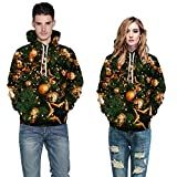 Product review of TIFENNY Men Women 3D Christmas Print Long Sleeve Coat Couples Hoodies Blouse Fashion Sweatshirts