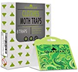 Premium Clothes Moth Traps by Guardian European Pheromone Attractant | Safe, Non-Toxic, and Insecticide Free | Easy to Use and Effective | 8 Pack