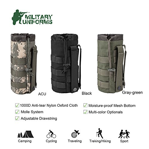 Sports Water Bottles Pouch Bag Tactical...