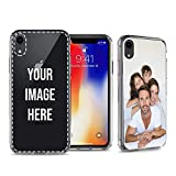True Color Case Compatible with iPhone XR - Create Your Own Customized Picture for iPhone XR Personalized Custom Photo or Design Printed in HD on Clear Back - Shock Absorbing Protective Bumper Cover