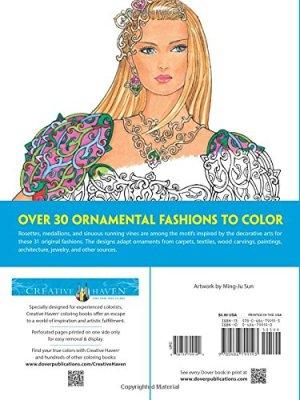 Creative Haven Ornamental Fashions Coloring Book (Creative Haven Coloring Books)