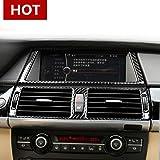 CROTRIM Carbon Fiber Console GPS Navigation & Air Vent Frame Cover for BMW X5 X6 E70 E71