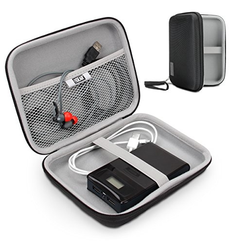 USA Gear Hard Shell Electronic Organizer Travel Case 7.5' Inch with Weather-Resistant Exterior and Large Mesh Accessory Pocket - Compatible with Garmin GPS, Chargers, Hard Drives and More Electronics