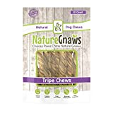 Nature Gnaws Tripe Twists 4-5 inch (10 Count) - 100% Natural Grass Fed Premium Beef Dog Chew Treats