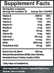 Beard Grow XL | Facial Hair Supplement | Vegan | #1 Mens Hair Growth Vitamins | for Thicker and Fuller Beard  Image 3