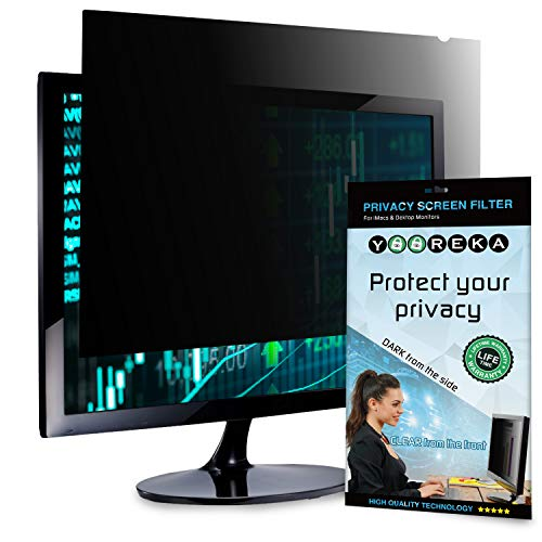 Reversible Computer Privacy Screen, 27 inch - (16:9) Aspect Ratio :: Anti Glare Filter with Blue Light Protection :: Reduces Eye Strain, Blocks 96% UV Radiation :: with Installation Kit