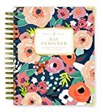 Day Designer 2019-2020 Daily Life Planner and Agenda, Hardcover, Twin-Wire Binding, 9' x 9.75', Secret Garden