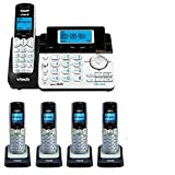 VTech DS6151 2-Line Expandable Cordless Phone with Digital Answering System and Caller ID with 4 Extra DS6101 Handsets