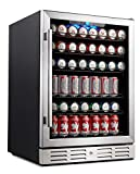 Kalamera 24' Beverage Refrigerator 175 Can Built-in or Freestanding Single Zone Touch Control