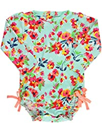 Baby/Toddler Girls Long Sleeve One Piece Swimsuit with UPF 50+ Sun Protection