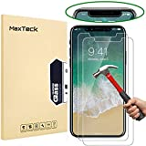 [3 Pack] iPhone X (iPhone 10) Screen Protector, MaxTeck 0.26mm 9H Tempered Glass Screen Protector Anti-Shatter Film for iPhone X (iPhone 10) [3D Touch Compatible]