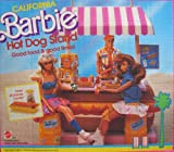 California Barbie HOT DOG STAND 45+ Piece PLAYSET (1987 Mattel Hawthorne)