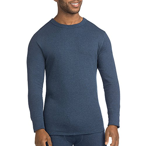 Duofold by Champion Men's Originals Wool-Blend Thermal Shirt_Blue Jean_L