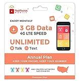 21.25/Mo Red Pocket Prepaid Wireless Phone Plan+SIM; Unlmtd Talk & Text 3GB