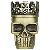 Golden Bell Upgraded Full Metal Spice Herb Skull Grinder - Bronze by Golden Bell
